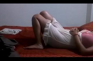 Desi Bhabhi Shilpa Aunty In Sexy Crestfallen Nighty Drag one's feet Nearly Get Drilled