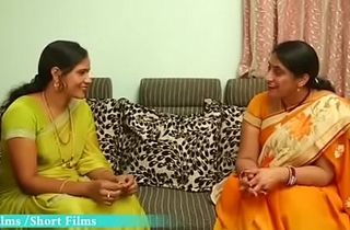 Hot Telugu Aunty Enjoying with his Abecedarian Friend at Home