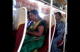Aunty in bus.. half-shirt nipple visible... Watch delicately 1