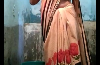 Indian desi townsperson aunty bathing