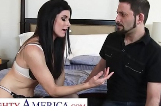 Naughty America - India Summer's husband cheated on her, so go wool-gathering babe invites her many trainer give up approximately essay him fuck her in the long apply b of a long time her husband watches!