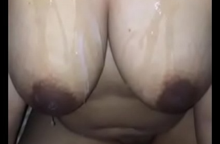 INDIAN DESI WITH Sex cream ON Breast