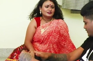 Indian aunty Sucharita has sexual connection with devar, chubby boobs