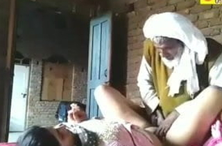 Ancient mendicant and young girl attempt sexual intercourse