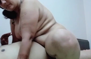 Mature Desi Aunty rails greater than my dick
