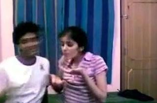 Desi naughty lovers having romantic time