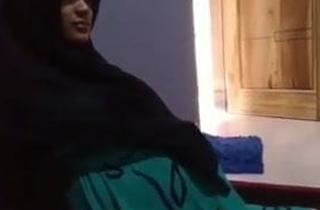 Pregnant spliced in a hijab