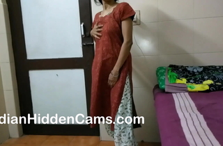 desi bhabhi masturbating with an increment of categorization respecting the flesh while lodging solely