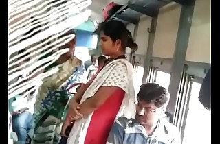 Tamil unshaded pawing in train