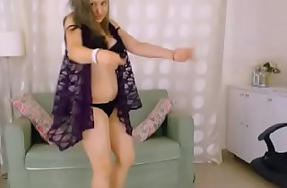 LittleTeenBB Little Riley strips to just bra and panties, dances and attempts on sexy outfits.