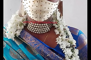 Indian beautiful crossdresser model nearby blue saree