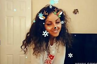 Christmas Snapchat teen gives best deepthroat blowjob with massive cumshot swallow tiktok hot shots POV Indian