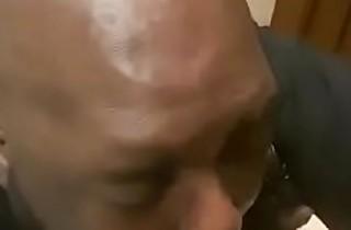 Luhya old man sucking Indian customer in Westy