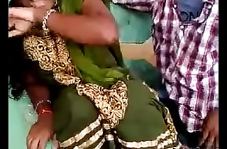 Aunty kissed by cousin with an increment of she enjoyed
