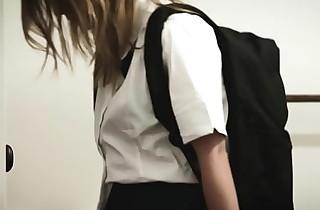 Sexy schoolgirl drilled by stepbro
