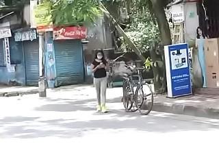 Damn hot desi Bhabhi doing yoga and getting drilled afterwards