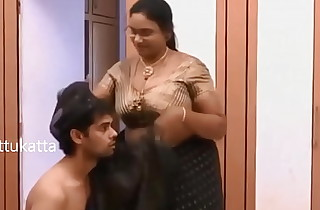 Indian Aunty romance with Young boy