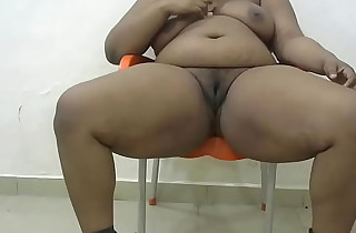 plumper woman masturbate together with fucks Dildo while hubby is at work