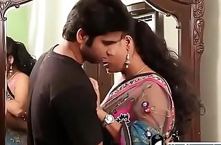 Indian hot crammer close to pink bra and sari seducing young boy -Adulteacher.com