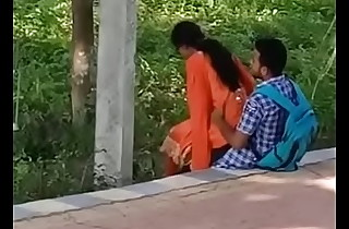 Indian girlfriend Can't live without in Garden openly