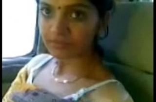 Cute Desi Bhabhi Behave oneself Milky Boobs In Car With Lover