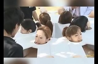 Asian girls fucking in round