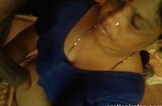 Aunty sucking my cock happily