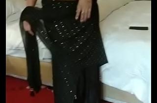 muslim rich lady riya black sari part 4