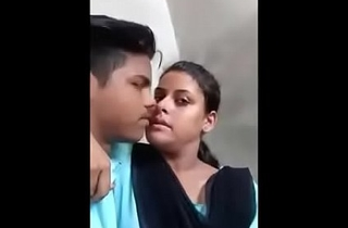 Indian school girl outdoor kissing