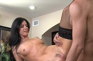 Brunette MILF India Summer fuck a big cock