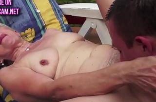 Pussy banged gilf shakes her big tits