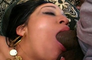 Hot indian sucks dick deep throat cock