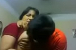 Amateur Indian couple kiss sensually close up