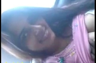 Indian sex mms of gorgeous girlfriend oral sex in car