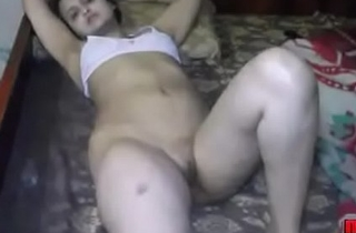 Sonia Bhabhi Indian White wife Spreading Long Sexy Legs For Sex