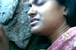Cute Bengali Girl'_s Boobs Fondeled By Her Boy Friend Behind Put emphasize Rocks