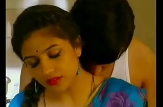 Mallu aunty increased by uncle sexy liaison a kitchen blue impulse saree