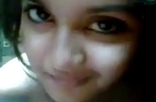 Very unmitigatedly cute girl selfi desi girlfriend