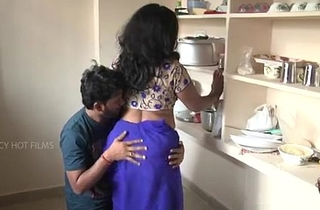 Indian mother and son romance in larder