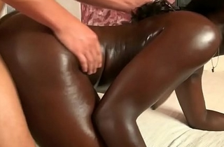 African demiurge creampied in front end of one's tether wan cock