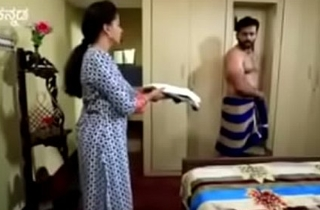 South Indian TV actor smelly unvarnished in underwear in a TV show