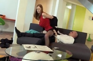 Incredible Redhead Linda Charming Loves Fully Clothed Sex