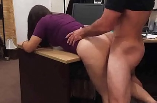 Smart university brunette gets bent over increased by slammed from behind
