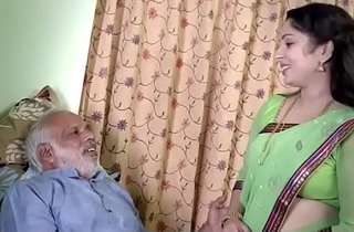 Indian Girl loving with old man