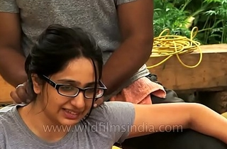 Unsubtle gets analeptic rub-down near Indian Himalaya.MP4