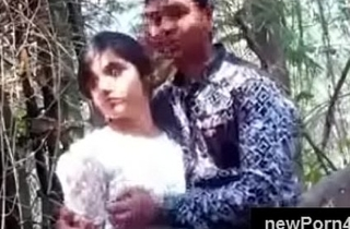Most appropriate Beautiful and cute Indian girl nuzzle and knocker driven by bf within reach jungle within reach newPorn4u.com