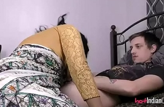 Indian Babe Lily At hand Her Husband Engulfing Him Wanting