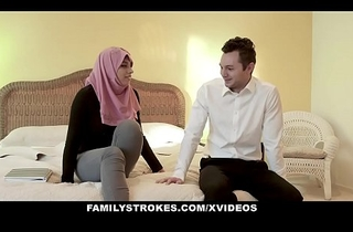 FamilyStrokes - Pakistani Get hitched Rides Cock Encircling Hijab