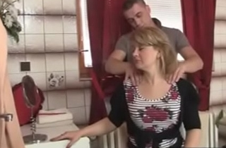 sexy old lady in law seduced indestructible unconnected with his stepson -xtube5.com