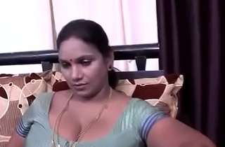 Desi Aunty Liaison upon chain young man